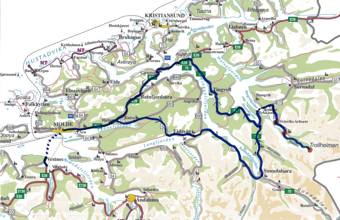 kart vestnes Sogelagstur 2012